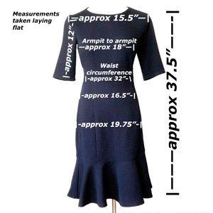 Chaps Dresses - Chaps Short Sleeve Navy Dress